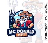 elements farmer cartoon logo... | Shutterstock .eps vector #1992509552