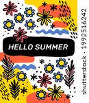 bright summer background with...   Shutterstock .eps vector #1992516242