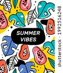 bright summer background with...   Shutterstock .eps vector #1992516248