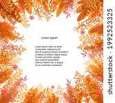 vector floral template. hand...   Shutterstock .eps vector #1992523325