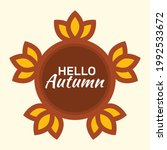 hello autumn vector...   Shutterstock .eps vector #1992533672