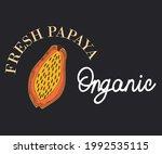 fresh papaya print design .... | Shutterstock .eps vector #1992535115