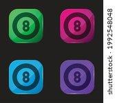 billiard four color glass... | Shutterstock .eps vector #1992548048