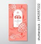 fruit and berries tea label... | Shutterstock .eps vector #1992557222
