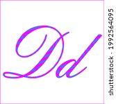 letter d   2 color pattern of...   Shutterstock .eps vector #1992564095