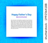 father day paper template.... | Shutterstock .eps vector #1992564188