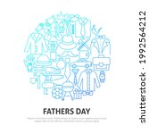 fathers day circle concept.... | Shutterstock .eps vector #1992564212