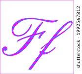 letter f   2 color pattern of...   Shutterstock .eps vector #1992567812