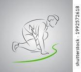 running man at the start.... | Shutterstock .eps vector #1992572618