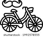 bicycle with moustache concept... | Shutterstock .eps vector #1992578555