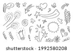 hand drawn set elements  black...   Shutterstock .eps vector #1992580208