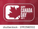 happy canada day. july 1....   Shutterstock .eps vector #1992580532