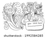 hand drawn autumn banner with...   Shutterstock .eps vector #1992584285