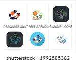 designate guilt free spending... | Shutterstock .eps vector #1992585362