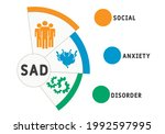 sad   social anxiety disorder...   Shutterstock .eps vector #1992597995