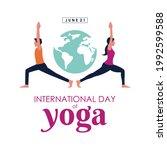 21 june international yoga day... | Shutterstock .eps vector #1992599588