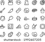 food line icon set   pizza ... | Shutterstock .eps vector #1992607205