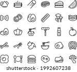 food line icon set   plate... | Shutterstock .eps vector #1992607238