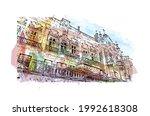 building view with landmark of... | Shutterstock .eps vector #1992618308