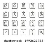 pack of clipboard line icons....