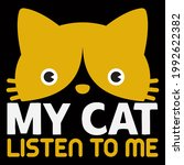 cat lover vector illustration... | Shutterstock .eps vector #1992622382