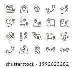 pack of map pin line icons....