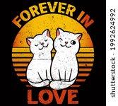 cat lover vector illustration... | Shutterstock .eps vector #1992624992