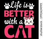 cat lover vector illustration... | Shutterstock .eps vector #1992624995