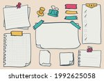 set blank paper notes. vector... | Shutterstock .eps vector #1992625058