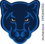 head of black panther sport... | Shutterstock .eps vector #1992640202