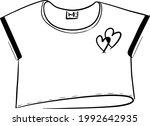 women's t shirt  top with a... | Shutterstock .eps vector #1992642935