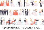 big set of just married couples ... | Shutterstock .eps vector #1992644738