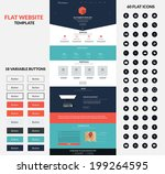 website interface template  one ...