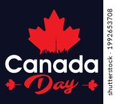 1st of july canada day t shirt... | Shutterstock .eps vector #1992653708