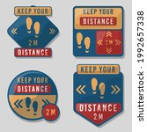 keep your distance icon. covid... | Shutterstock .eps vector #1992657338