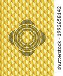 leaf crown icon inside golden... | Shutterstock .eps vector #1992658142