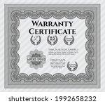 grey retro warranty template.... | Shutterstock .eps vector #1992658232
