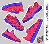 sport shoe. casual fashion.... | Shutterstock .eps vector #1992671888