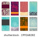 collection of colorful floral... | Shutterstock .eps vector #199268282