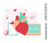 modern heart medication  heart...   Shutterstock .eps vector #1992725372