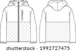 women's hooded  quilted teddy... | Shutterstock .eps vector #1992727475