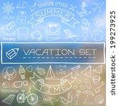 Hand Drawn Vacation Icons Set...