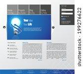 blue business website template  ... | Shutterstock .eps vector #199276622