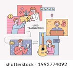 people selling or buying second ...   Shutterstock .eps vector #1992774092