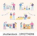 flea market place. people who... | Shutterstock .eps vector #1992774098