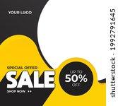 special offer banner  hot sale  ... | Shutterstock .eps vector #1992791645
