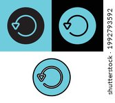 reload icon with three style | Shutterstock .eps vector #1992793592