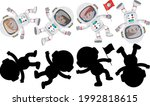 set of different astronauts... | Shutterstock .eps vector #1992818615