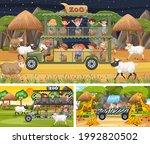 different safari scenes with... | Shutterstock .eps vector #1992820502