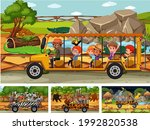 different safari scenes with... | Shutterstock .eps vector #1992820538